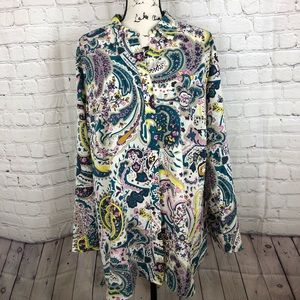 Talbots Floral blouse tunic